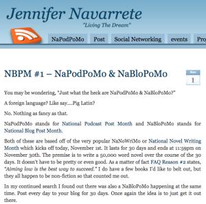 Origin of NaPodPoMo