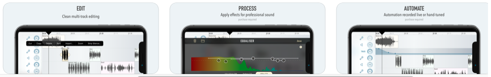 Screenshot of the edit process for Ferrite Studio app